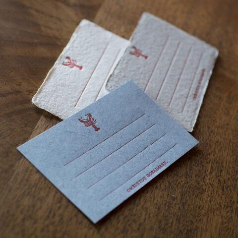 ザリガニのおめでとうカード
