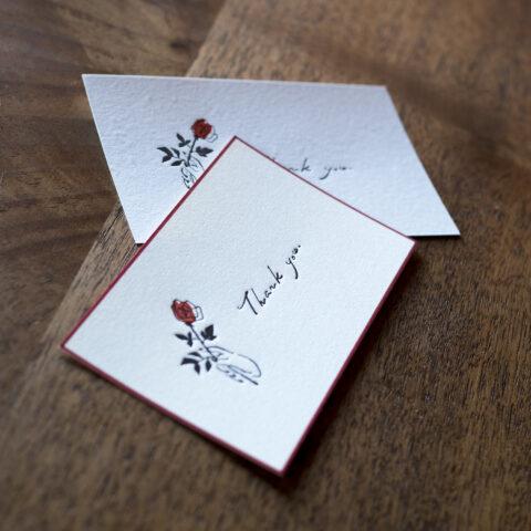 赤バラを贈るメッセージカード