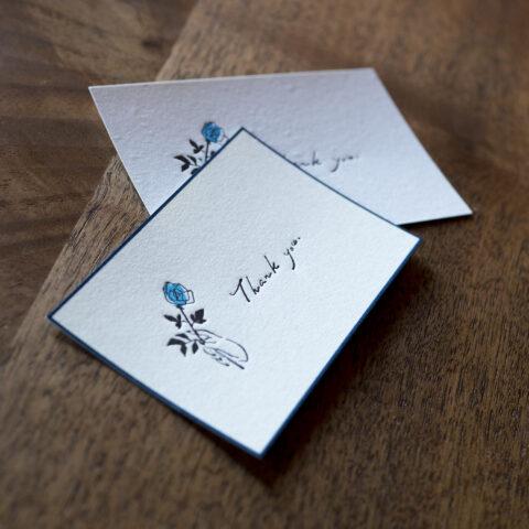 青バラを贈るメッセージカード